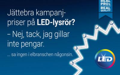 Jättebra kampanjpriser på LED-lysrör