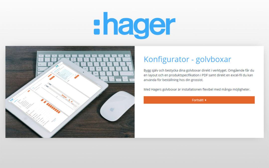 Konfigurator för golvboxar och stavar