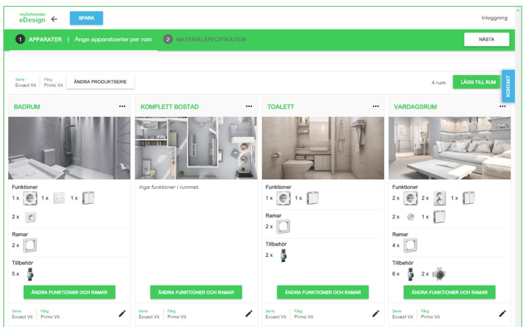 Välj strömbrytare och vägguttag till dina projekt med eDesign