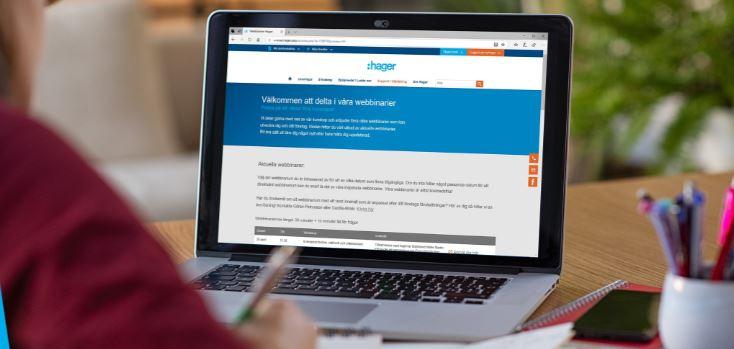 Hagers webbinarier är gratis och finns online