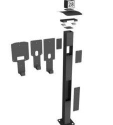 Onepole Universell stolpe för EV-laddboxar